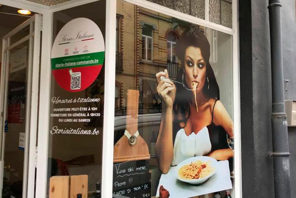 Storia Italiana - Vitre droite épicerie