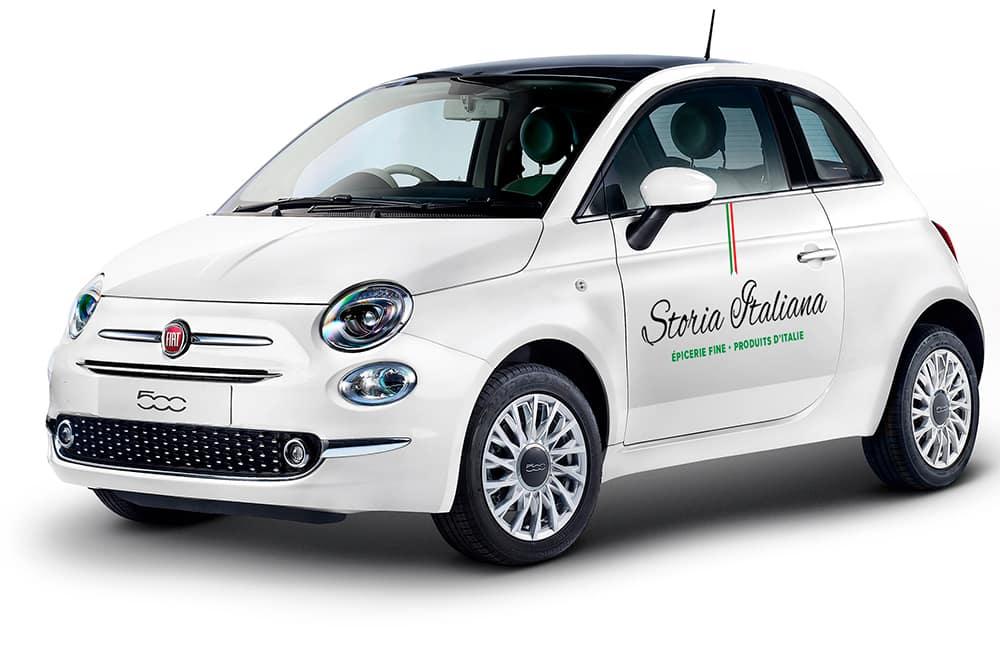 Storia Italiana - voiture mockup