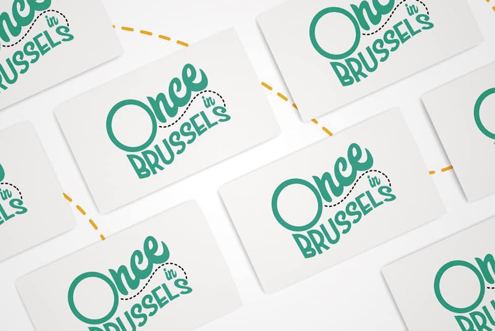 Once Brussels - Mockup carte de visite
